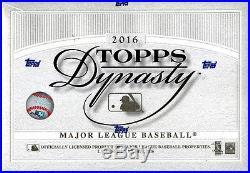 2016 Topps Dynasty Baseball SEALED 5-Box Hobby CASE