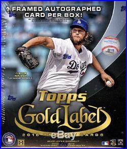 2016 Topps Gold Label baseball sealed hobby 16-box case