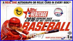 2016 Topps Heritage Baseball SEALED 12-Box HOBBY CASE