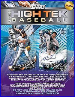 2016 Topps High Tek Baseball FACTORY SEALED Hobby 12 Box Case Free S&H PRESLL