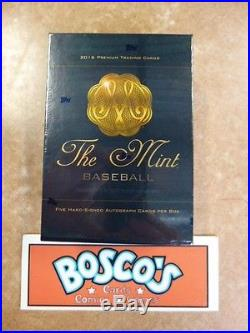 2016 Topps The Mint Baseball Factory Sealed Hobby Box (Five Autos A Box!)