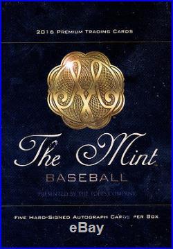 2016 Topps The Mint Baseball SEALED HOBBY BOX (5 Autos per box)