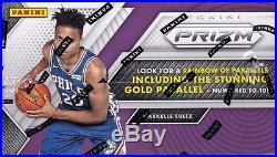 2017-18 Panini Prizm Basketball sealed jumbo box 12 packs 12 NBA cards 2 auto
