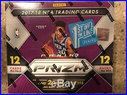 2017-18 Panini Prizm First off the Line Sealed Hobby Box 2 Red Shimmer #/8