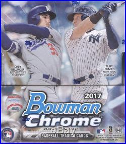 2017 Bowman Chrome Baseball Factory Sealed Hobby Box 12 Packs 2 Autos