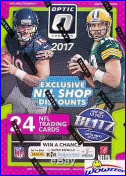 2017 Donruss Optic Football EXCLUSIVE Factory Sealed 20 Box Blaster CASE