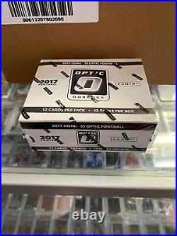 2017 Panini Donruss Optic Football Fat Pack 12ct Sealed Box Patrick Mahomes RC