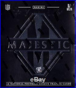 2017 Panini Majestic Football sealed hobby box 10 NFL cards 4 auto