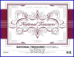 2017 Panini National Treasures Football Hobby Box Factory Sealed Mahomes II Rc