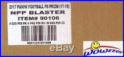 2017 Panini Prizm Football Factory Sealed 20 Box Blaster CASE-20 AUTOGRAPH/MEM