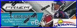 2017 Panini Prizm Football Factory Sealed 24 Pack Retail Box-12 RC+12 Inserts