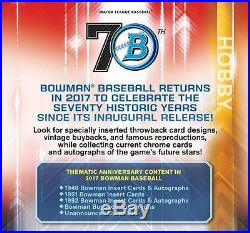 2017 Topps BOWMAN BASEBALL Factory-Sealed 8-Box JUMBO HTA CASE (Pre-Sell)