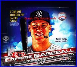 2017 Topps Chrome Baseball Factory Sealed Jumbo HTA Box