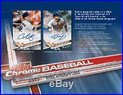 2017 Topps Chrome Baseball Hobby 12 Box Sealed Case Pre-Sell Releases 8/2
