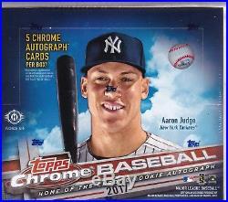 2017 Topps Chrome Baseball Jumbo HTA Box Factory Sealed