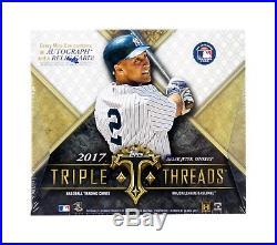 2017 Topps Triple Threads Baseball Hobby Box From Factory Sealed Master Case
