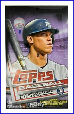 2017 Topps Update series baseball sealed HOBBY box no silver pack