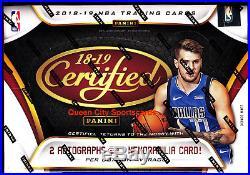 2018/19 Panini Certified Basketball Factory Sealed Hobby Box