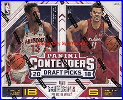 2018/19 Panini Contenders Draft Picks Basketball Factory Sealed Hobby Box
