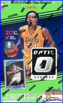 2018/19 Panini Donruss OPTIC Basketball HUGE Factory Sealed 20 Pack Retail Box