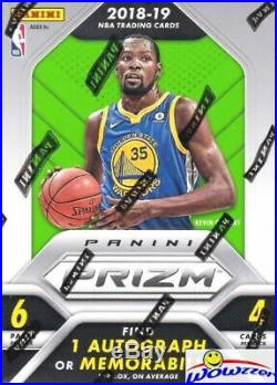 2018/19 Panini Prizm Basketball 20 Box Factory Sealed Blaster CASE-20 AUTO/MEM