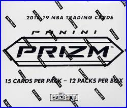 2018-19 Panini Prizm Basketball sealed cello fat pack box 12 packs 15 NBA cards