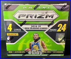 2018-19 Panini Prizm Retail Box Sealed 24 Packs 4 Cards Per Pack