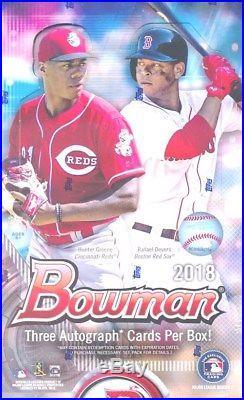 2018 Bowman Baseball Factory Sealed HOBBY HTA JUMBO box-3 AUTO+2 Bowman Sterling