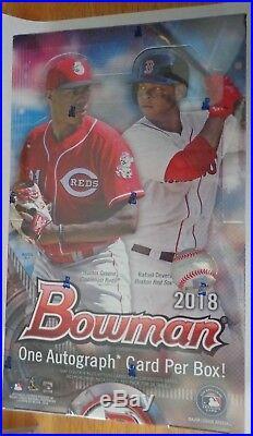 2018 Bowman Baseball Hobby Box Factory Sealed One Autograph Per Box 24 Pks Box