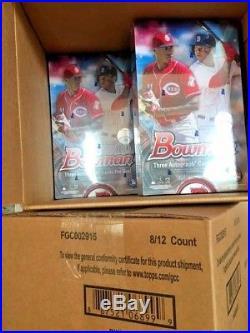 2018 Bowman Baseball Jumbo Factory Sealed Hobby Box 12 Packs & 3 Autos Per Box