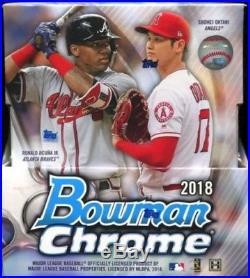 2018 Bowman Chrome Baseball Cards Factory Sealed Hobby Box 2 Autos