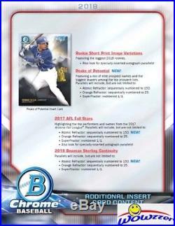2018 Bowman Chrome Baseball Factory Sealed 12 Box HOBBY CASE-24 AUTOGRAPHS