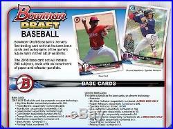 2018 Bowman Draft Baseball (12/05) Factory Sealed Hobby JUMBO Box 3 AUTOS