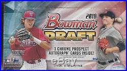 2018 Bowman Draft Jumbo Baseball Box Factory Sealed Box 3 Autos