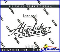 2018 Panini Absolute Football MASSIVE Factory Sealed FAT PACK Box-240 Cards