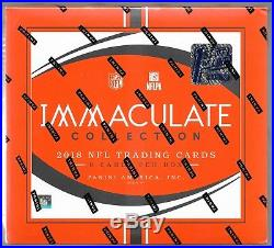 2018 Panini Immaculate Football FOTL HOBBY BOX FACTORY SEALED 1st OFF THE LINE