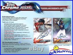 2018 Topps Chrome Baseball Factory Sealed HOBBY JUMBO Box-5 AUTOGRAPHS