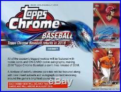 2018 Topps Chrome Baseball Factory Sealed Hobby 12 Box Case 24 AUTOGRAPHS LIVE