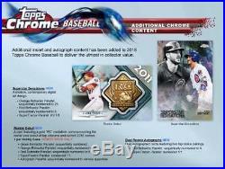 2018 Topps Chrome Baseball Hobby Edition Factory Sealed 24 Pack Box
