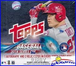 2018 Topps Series 1 Baseball Sealed HOBBY JUMBO 6 Box CASE-18 AUTOGRAPH/RELIC