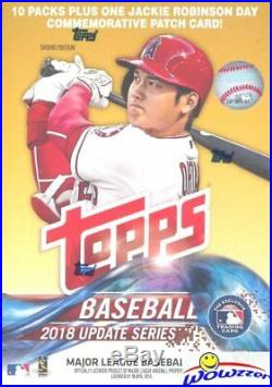 2018 Topps Update Baseball 16 Box Factory Sealed Blaster CASE -16 Robinson PATCH