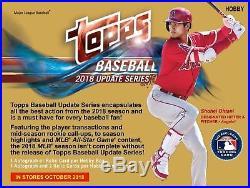 2018 Topps Update Baseball Factory Sealed HTA Jumbo Box