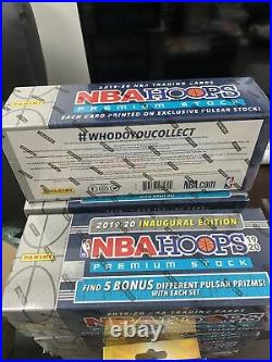 2019-20 NBA Hoops Premium Stock Sealed Box Set Includes 5 Bonus Pulsar Prizms