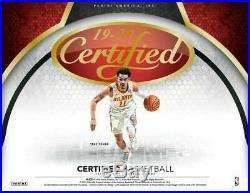 2019-20 Panini Certified Basketball Factory Sealed Hobby Box