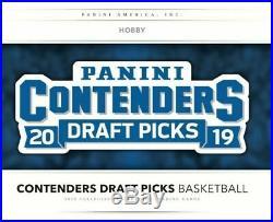 2019-20 Panini Contenders Draft Picks Basketball Factory Sealed Hobby Box