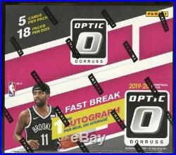 2019/20 Panini Donruss Optic Basketball Fast Break Factory Sealed Box