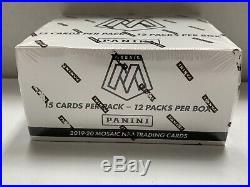 2019-20 Panini Mosaic Basketball Factory Sealed Cello Box 12 Packs/Box Zion