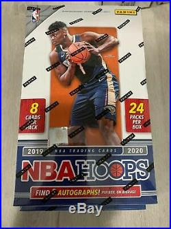 2019-20 Panini NBA Hoops Basketball Factory Sealed Hobby Box ZION JA MORANT
