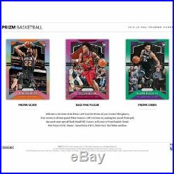 2019-20 Panini Prizm Basketball Retail Sealed Box