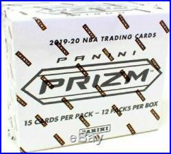 2019-20 Panini Prizm Cello Basketball 12 Packs Sealed Box Rwb Silver Green